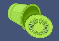 Recycle bin isometric flat vector Stock Photo