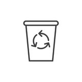Recycle Bin line icon, outline vector sign Stock Images