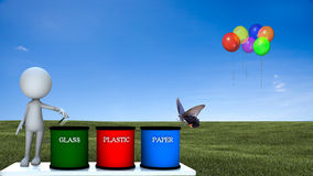 Recycle bin with nice background Stock Image