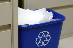 Recycle bin in the office Stock Images