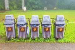 Recycle Bin. Old  in the park Royalty Free Stock Images