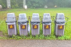 Recycle Bin. Old  in the park Royalty Free Stock Photography