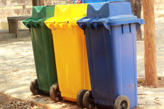 Recycle bin in the park Royalty Free Stock Photo
