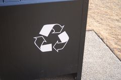Recycle Bin Receptacle Royalty Free Stock Photo