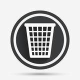 Recycle bin sign icon. Bin symbol. Royalty Free Stock Photography