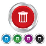 Recycle bin sign icon. Bin symbol. Royalty Free Stock Photo
