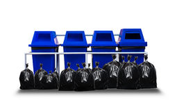 recycle bin with trash bag Stock Photo