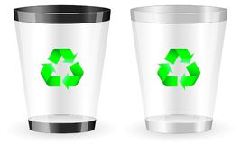 Recycle bin. Two recycle bin on white background Royalty Free Stock Photo