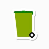 Recycle bin vector sticker Royalty Free Stock Photo