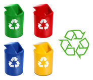 Recycle Bin on a white background Royalty Free Stock Photo