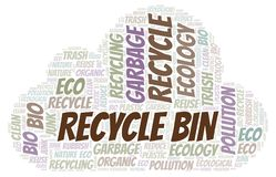 Recycle Bin word cloud. Wordcloud made with text only royalty free illustration
