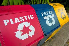 Recycle bins Stock Image