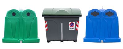 Recycle bins Royalty Free Stock Photography