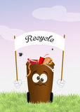 Recycle bins. Illustration of recycle bins cartoon Stock Image