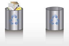 Recycle Bins. Illustration of two Recycle Bins Royalty Free Stock Image