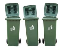 Recycle Bins Isolated. Recycle Bins  green Isolated environment Stock Image