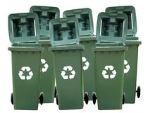 Recycle Bins Isolated. Recycle Bins basket box Isolated Stock Images