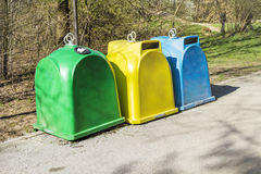 Recycle bins Royalty Free Stock Image