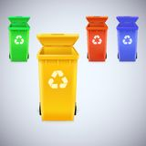 Recycle bins with recycle sign. Stock Images