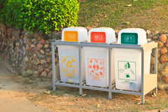Recycle bins set Stock Photos
