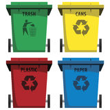 Recycle Bins. Vector set of recycle bins Royalty Free Stock Image