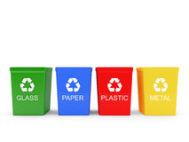 Recycle bins Stock Photos
