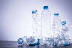 Recycle bottles used Stock Images