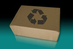 Recycle box on the reflected floor Royalty Free Stock Photography