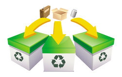 Recycle boxes Stock Image