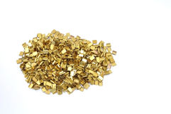 Recycle brass chip royalty free stock image