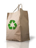 Recycle Brown Crumpled peper bag Stock Photos