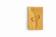 Recycle brown paper bag Royalty Free Stock Photography