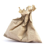 Recycle brown paper bag Royalty Free Stock Images