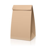 Recycle brown paper bag. Illustration Stock Photos