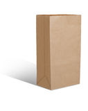 Recycle brown paper bag isolate is on white background Royalty Free Stock Images