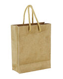 Recycle brown paper bag isolated on white background. stock images