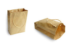 Recycle brown paper bag stock photography
