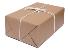 Recycle brown paper box wrap Royalty Free Stock Photography