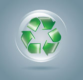 Recycle bubble Stock Photography