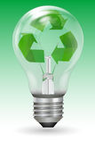 Recycle bulb Stock Photo