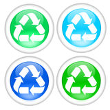 Recycle button Stock Image
