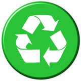 Recycle Button Stock Photo