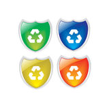 Recycle button Royalty Free Stock Photos