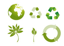 Recycle button. Environmental conservation symbols Stock Photo