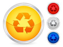 Recycle button Stock Photography