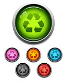 Recycle button icon Royalty Free Stock Photos