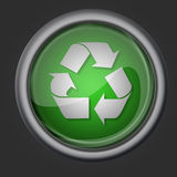 Recycle button icon symbol Stock Images