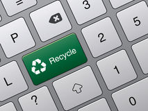 Recycle button on keyboard Royalty Free Stock Photography