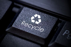 Recycle button keyboard Stock Photo