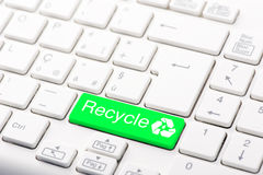 Recycle button on the keyboard Royalty Free Stock Photos